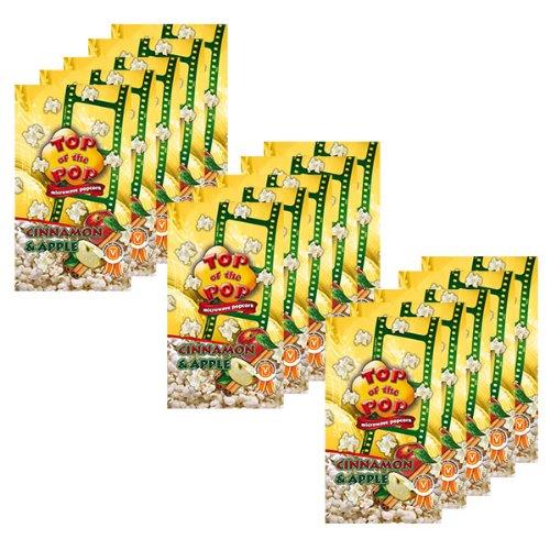 Halal Way Maïs à Éclater pour Micro-ondes Pommes & Canelle, Microwave Popcorn Cinnamon & Apple, Lot de 15