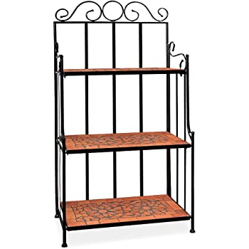 deuba regal mosaik wandregal metallregal standregal garten terracotta mosaikregal. Black Bedroom Furniture Sets. Home Design Ideas