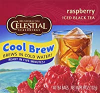 CELESTIAL SEASONINGS TEA COOL BREW RASPBRY, 40 BG
