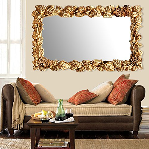 Elegant Arts & Frames Gold Decorative Mirror Floral Design