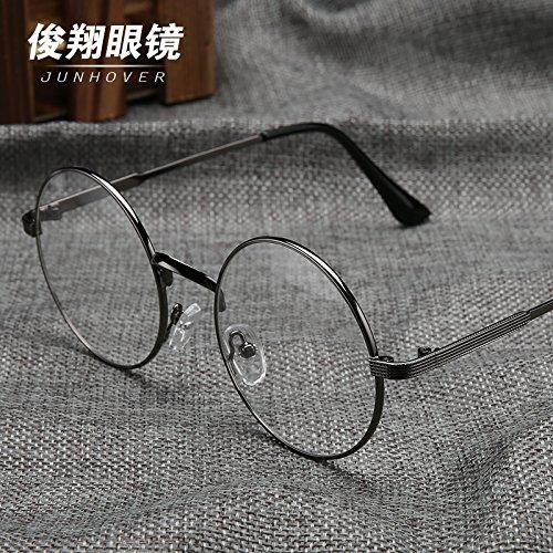 runder brille frame art retro - weibliche flache gläser auge augenglas frame mens runde brille.,die silbernen