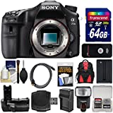 Sony Alpha A77 II Wi-Fi Digital SLR Camera Body With 64GB Card + Flash + Backpack + Battery & Charger + Grip + Remote + Kit