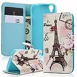 MAXFE.CO Lederhülle Leder Tasche Der Eiffelturm Serie