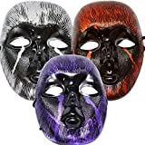 Ascension ® Fancy Face Mask Holi Party Halloween Festival Costume Horror Scary Colour Prank Fun Evil Naqaab Funny Colourful Shiny Open Eye & Nose Skull Devil (Random Colour) (Set Of 3)