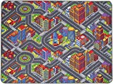 Spielteppich Autoteppich Straßenteppich Big City - 200x300 cm, Anti-Schmutz-Schicht, Auto-Spielteppich für Mädchen & Jungen, Kinderteppich Strasse Fußbodenheizung geeignet