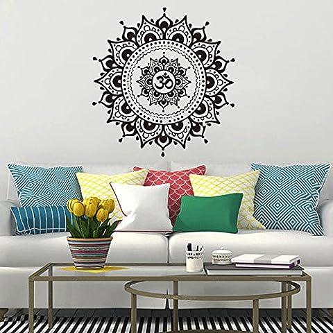 Wohnzimmer Wandaufkleber Aufkleber Kunst Mural Home Mandala Blume Indisches Schlafzimmer 22,4