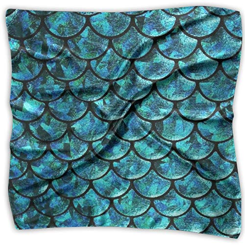 Mermaid Tails Abstract Silky Square Scarf Kerchief Neck Scarf Headdress -
