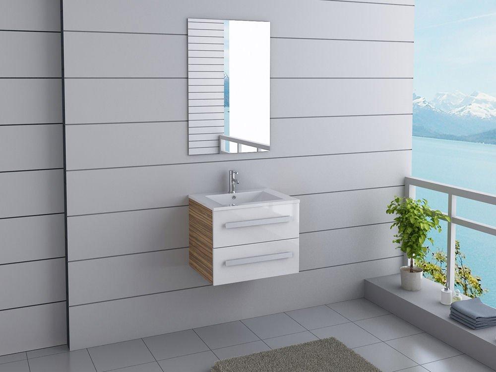 Waschtischplatte mit schublade gäste wc  Badmöbel Florida Gäste WC Waschtisch Set mit 2 Schubladen 5 ...