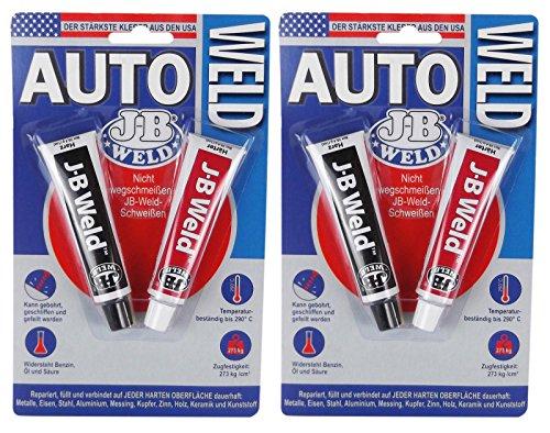 Preisvergleich Produktbild 2x JB WELD Auto Kleber Klebstoff Metallkleber Alleskleber Hitzebeständig 2x 28 g