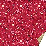 Heyda 204875557 204875557 Faltblätter (Curlie & Stardust) 15 x 15 cm, Stardust rot Stardust rot