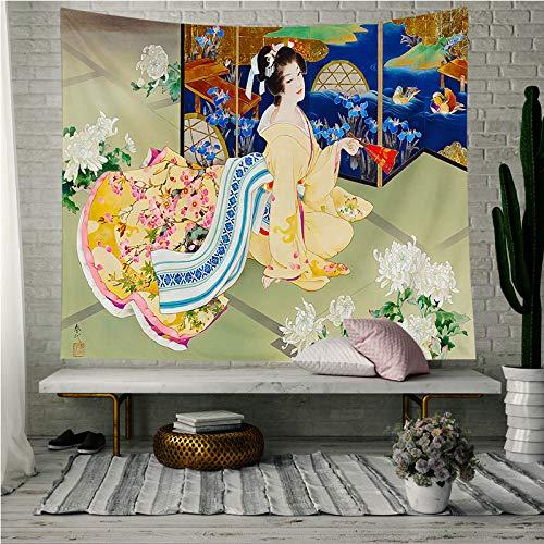 Mmzki Tapiz Decorativo Tela Colgante japonés Pintura