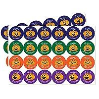 Halloween, Trick or Treat stickers, 30mm - Pumpkin designs - Various quantities