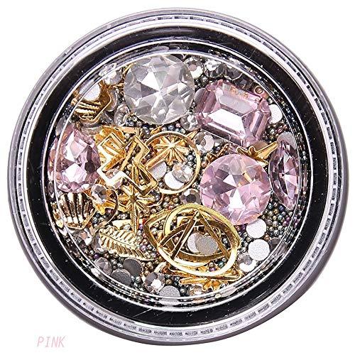 WEIWEITOE-ES Nail Art Jewelry Conjunto Caja Diamante