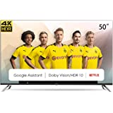 CHIQ 50 Pouces, Android 9.0 Smart TV, U50H7A, 4K, WiFi, Bluetooth, Google Play Store, Google Assistant, Chromecast bulit…