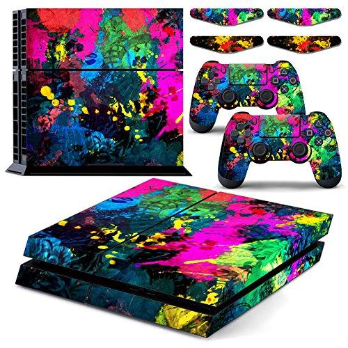 colorful-paint-splatter-wasserdichte-vinyl-ps4-designer-skin-aufkleber-aufkleber-fur-playstation-4-s