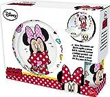Disney Minnie Mädchen Frühstücksset, 3 Teilig, Porzellan - Tasse, Teller, Müslischale - Spülmaschinen und Mikrowellengeeignet - Hohe Qualität