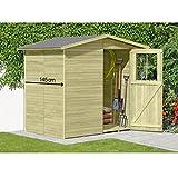 Gerätehaus aus Holz Modell Frankfurt 180 x 145 cm von Gartenpirat® -