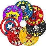 Superhero Comic Reward Sticker Labels, 35 Stickers @ 3.5cm, Glossy Photo Quality, Ideal for Children Parents Teachers Schools Doctors Nurses Opticians Pupils Classrooms Merit Motivation Praise