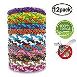 SWZY Pulsera Repelente de Mosquitos Bandas de Cuero con Estilo, Paquete de 12 Colores aleatorios