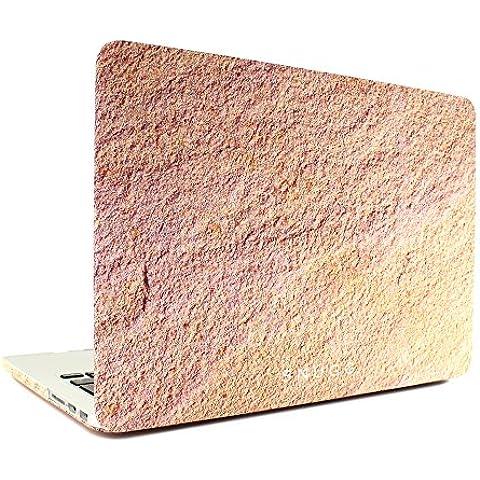 """Macbook Pro Custodia, Snugg Apple Macbook Pro Retina 15"""" Cover Case [Deluxe Satin Touch] Design Compatto Ultra-Sottile - Arenaria"""