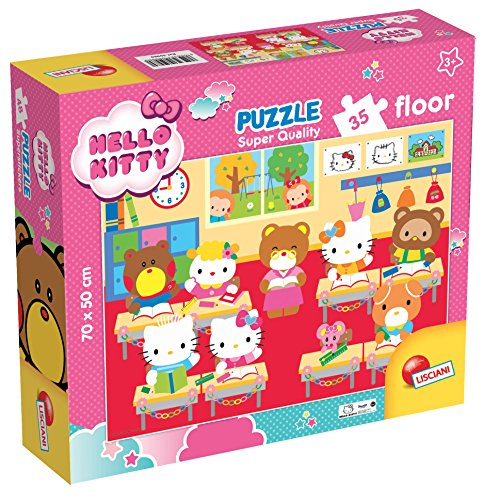 Lisciani Giochi 59980-Puzzle SQ Floor 35Hello Kitty