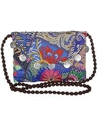 Jewel Fab Art Vintage Gems Embroidred Patch Work Banjara Ethnic Travel Sling Shoulder Bag