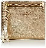 Fossil Damen Geldbörse Caroline - Rfid Mini Wallet Portafogli Donna, Gold (Pale Metallic), 1.9x9.9x10.8 cm (B x H T)