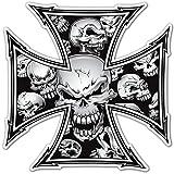 Aufkleber wählbar Adhesivo Sticker für Auto und Motorrad Kreuz Skulls 12x 12cm Aufkleber Autocollant
