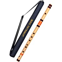 Hiscin C Natural Right handed Flute/Bansuri Size 19 inches