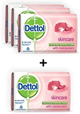 Dettol Skincare Soap, 75gm (Pack of 3) with Rs 9 Off