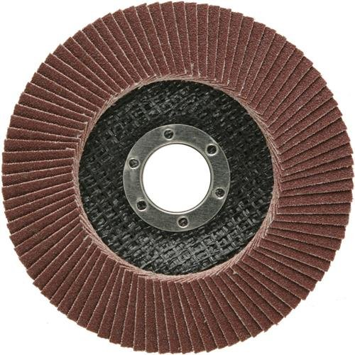 SBS Disco professionale 125 mm / Grana 80, marrone, a lamelle abrasive