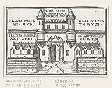 Das Museum Outlet–East Gate der Vision von der neue Tempel in Ezekiel. 1538, gespannte Leinwand Galerie verpackt. 50,8x 71,1cm