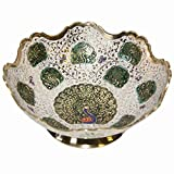 HAND CRAFTED METAL BRASS FRUIT BOWL WITH...