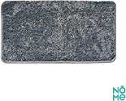 NOME Rubber Carpet Bathroom Kitchen Living Room Nursery Door Front Rugs, Multicolors (grey)