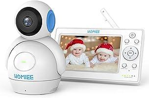 """HOMIEE Babyphone LCD 5"""" HD 720P Vidéo Moniteur pour Bébé Sans Fil 2.4GHz, Écran Numérique, Vision Nocturne à 1000 Pieds,..."""