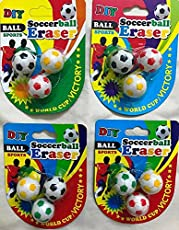 CLOUD 9 Cute Football Erasers,Birthday Return Gift idea for Kids. (Set of 9)