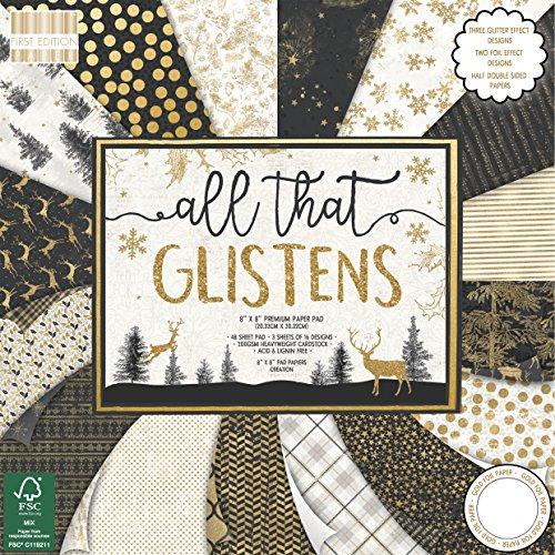 First Edition Weihnachten, Mehrfarbig, First Edition Christmas - All That Glisterns Premium Paper Pad 8