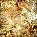 Wallario Glasbild Herbstlaub - 50 x 50 cm in Premium-Qualität: Brillante Farben, freischwebende Optik