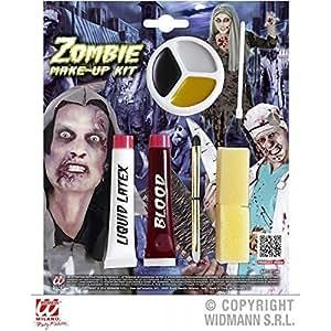 9 - pièce Zombie Make - Up Schminkset avec Sang artificiel