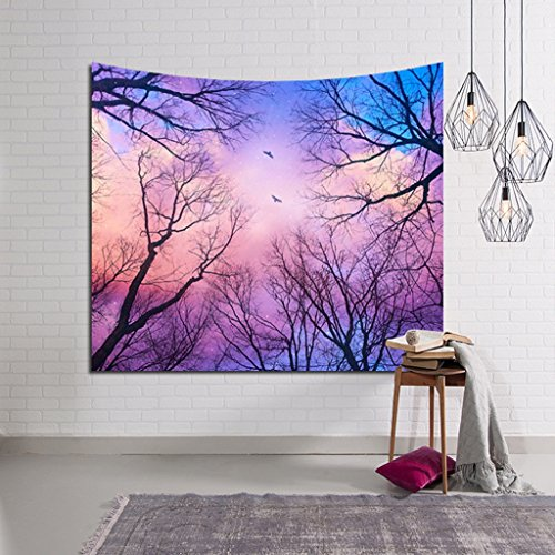 ZfgG Forest Starry Wandbehang Tapisserie, natürliches Haus Wohnzimmer Schlafzimmer Dekoration Innen- und Outdoor-Vorhänge (Farbe : D, Größe : 229×150cm)