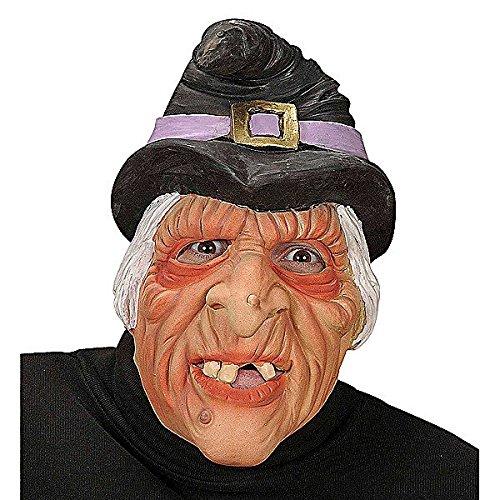 e mit Hexenhut (Halloween Hexe Masken)