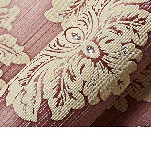 GXX Continentale di tessuto Non tessuto diamante sfondi a Damasco/Stereo3D carta da parati gregge/ carta da parati camera da letto con salotto-C