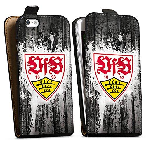 Apple iPhone 8 Silikon Hülle Case Schutzhülle VfB Stuttgart Fanartikel Bundesliga Fußball Downflip Tasche schwarz