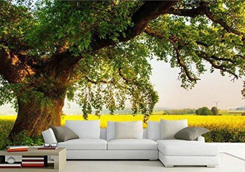 Preisvergleich Produktbild Yosot 3D Tapete Moderne,  Einfache Tv-Kulisse Bäume Blue Sky Grünland Holz- Dekoratives Wandgemälde Foto Tapete Für Wände 3 D-450Cmx300Cm