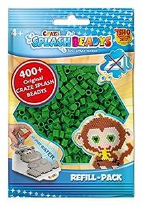 CRAZE- Cuentas de fusibles Fuse Splash BEADYS Recambio de Paquete de reemplazo de Abalorios Verde Craft Beads Recarga-Set 11546, Color
