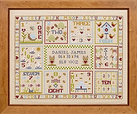 HS Sampler Kreuzstich Kit – Count With Me Geburt Record