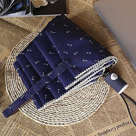 Paraguas plegable automático completo de triple plegado paraguas Publicidad