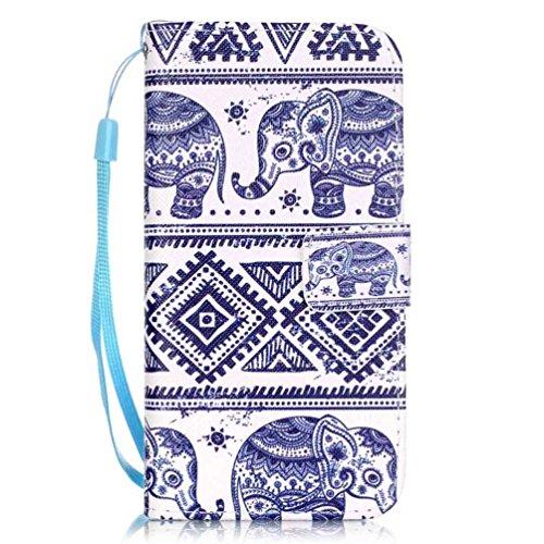 Coloré Motif PU Cuir portefeuille Housse Etui pour iPhone 7 (4,7 pouces) Case Coque Protection Flip Cover avec carte de crédit Slots (Y01#) Y08#