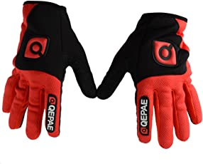 Generic Anti-Slip Soft Breathable Quick-Drying Mesh Fabric Outdoor Sports Cycling Bike Bicycle Full Finger Gloves For Men Women Red XL