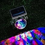 GloBrite Solar Powered Colour Changing Revolving LED Spotlight Carnival Garden Party Stake Light 9